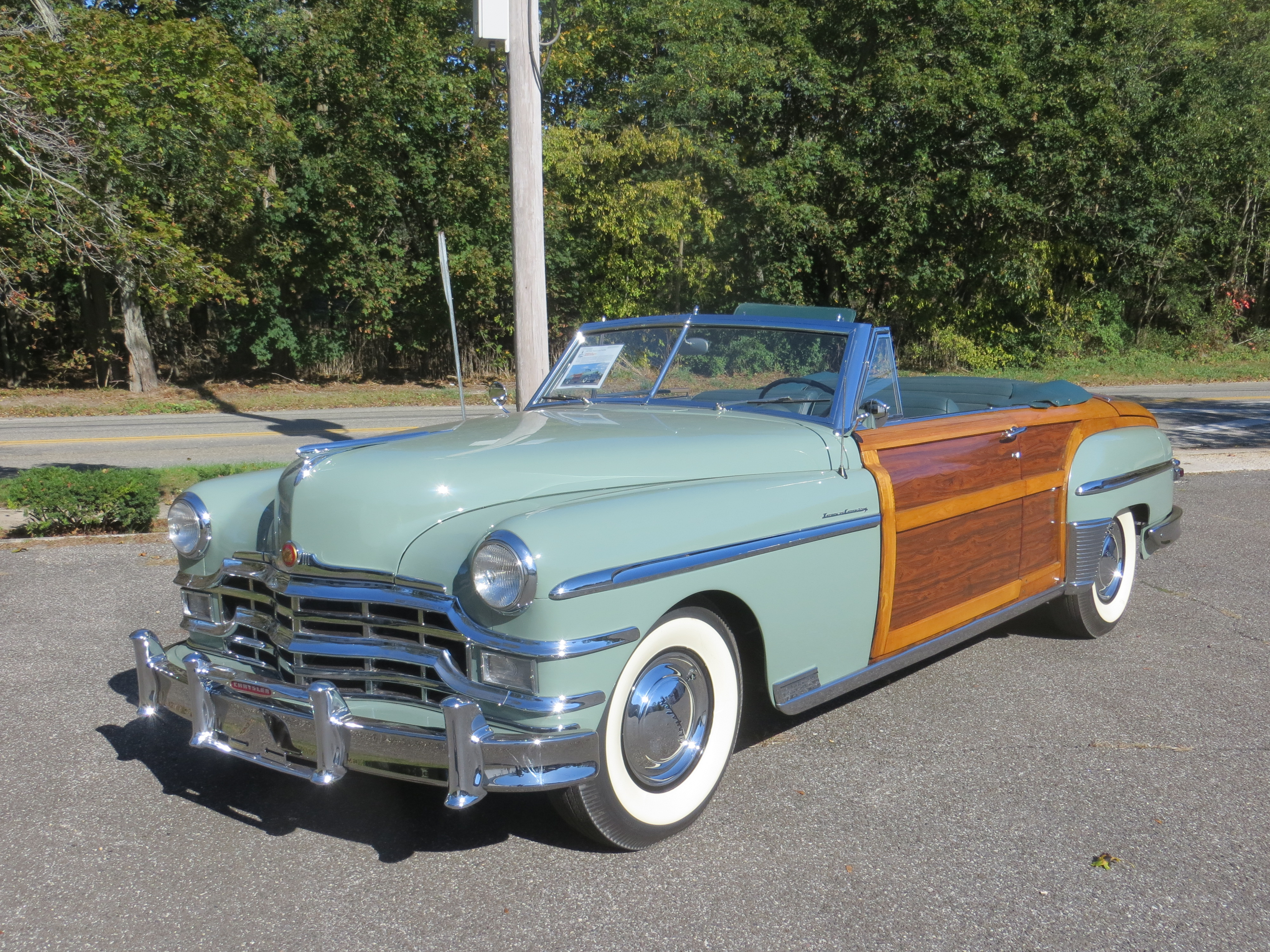 New Page 2 1949 Chrysler Town Country And Convertible 4th Car Off The Assembly Line Rare Mahogany Insert Panels Which Are Correct For Early 49 Cars 100000